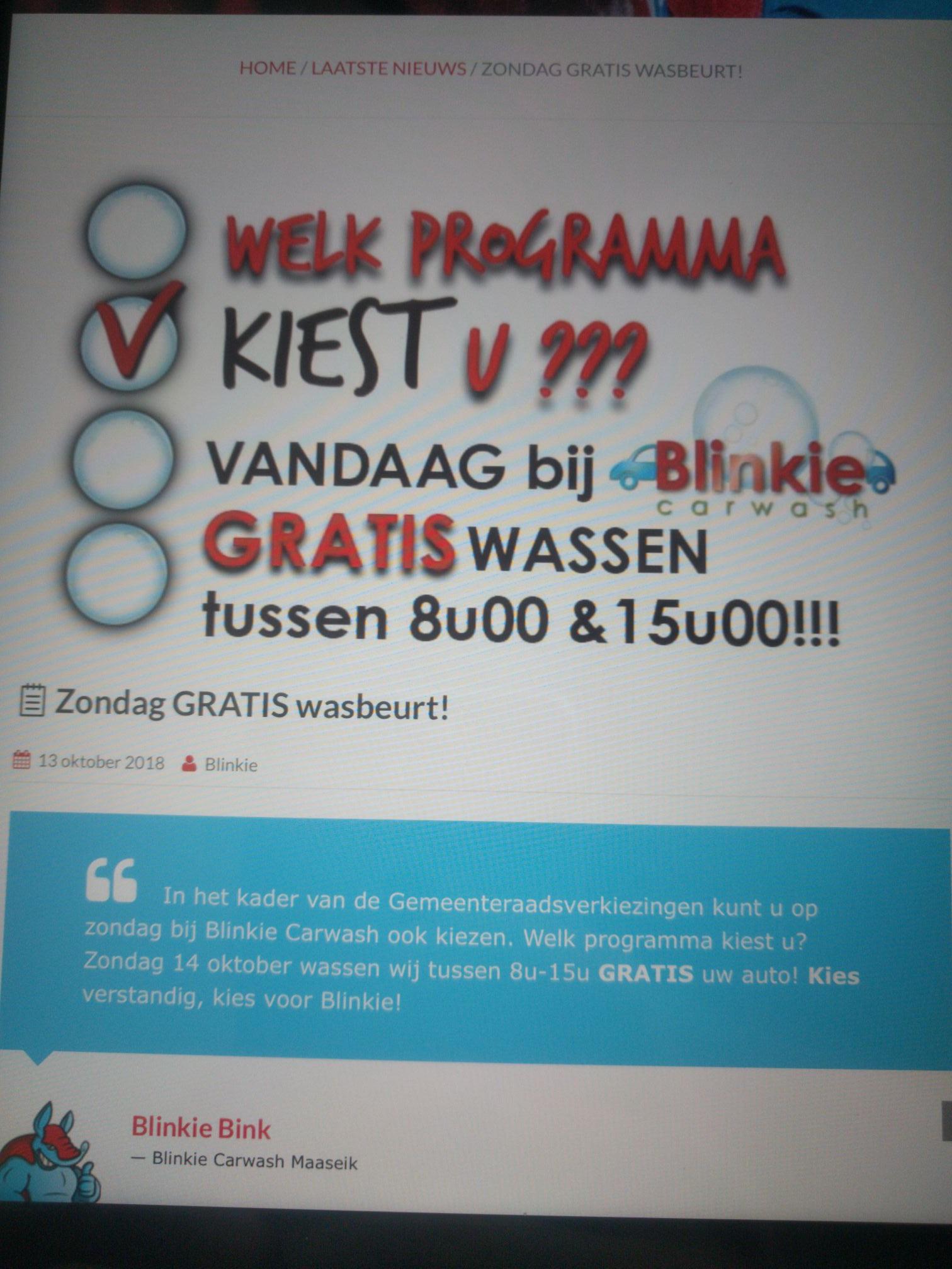 [GRENSDEAL BELGIË] vandaag gratis carwash in Maaseik