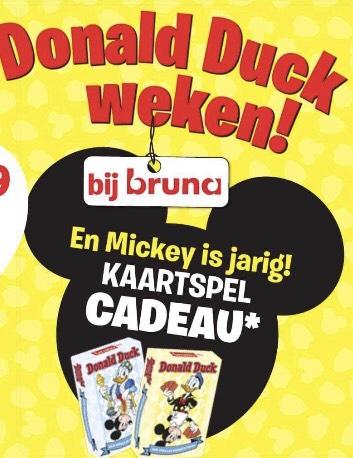 Donald Duck weken! kaart- of kwartetspel kado bij €7,50 aan Donald Duck producten @Bruna