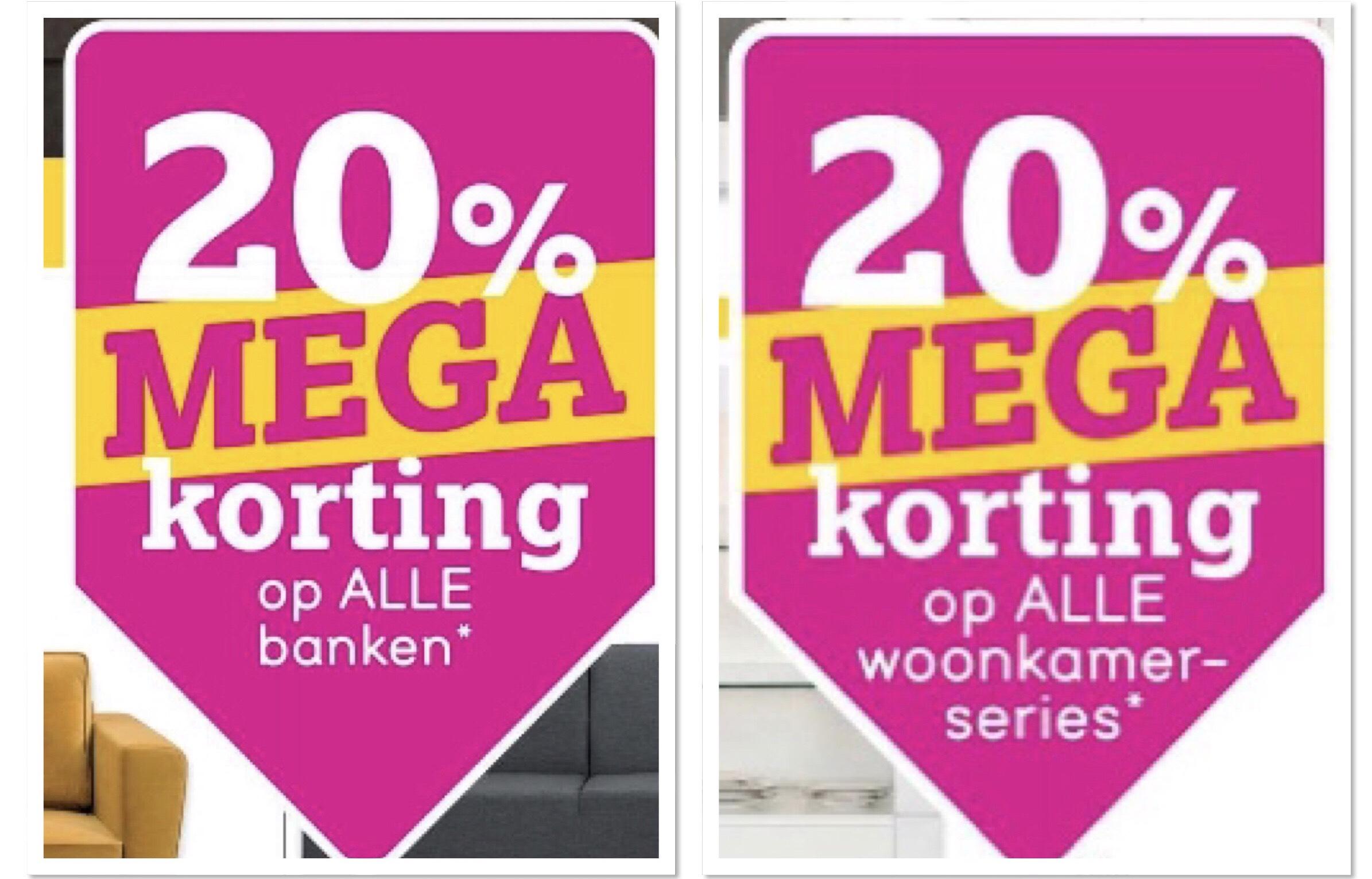 20% korting op alle banken en woonkamerseries en nog veel meer! @LeenBakker
