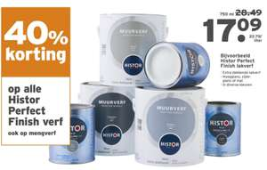 40% korting op alle Histor Perfect Finish @Gamma