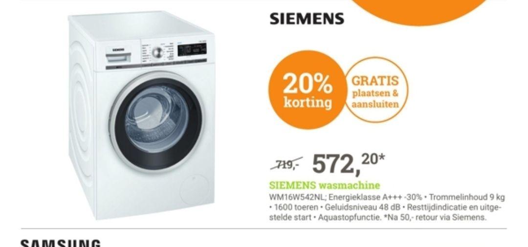 Siemens Wasmachine elders 679,- geldig vanaf morgen