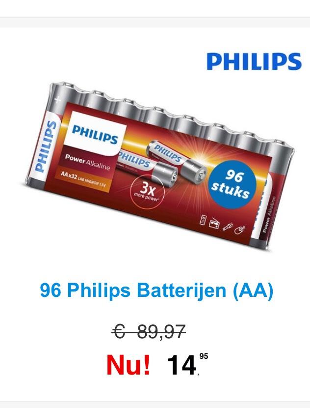 96x AA PHILIPS batterijen