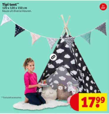 Kids Tipi Tent (6 dessins) €17,99 @ Kruidvat