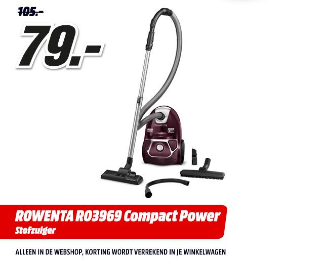 Rowenta RO3969 Compact Power Stofzuiger voor €79 @ Media Markt