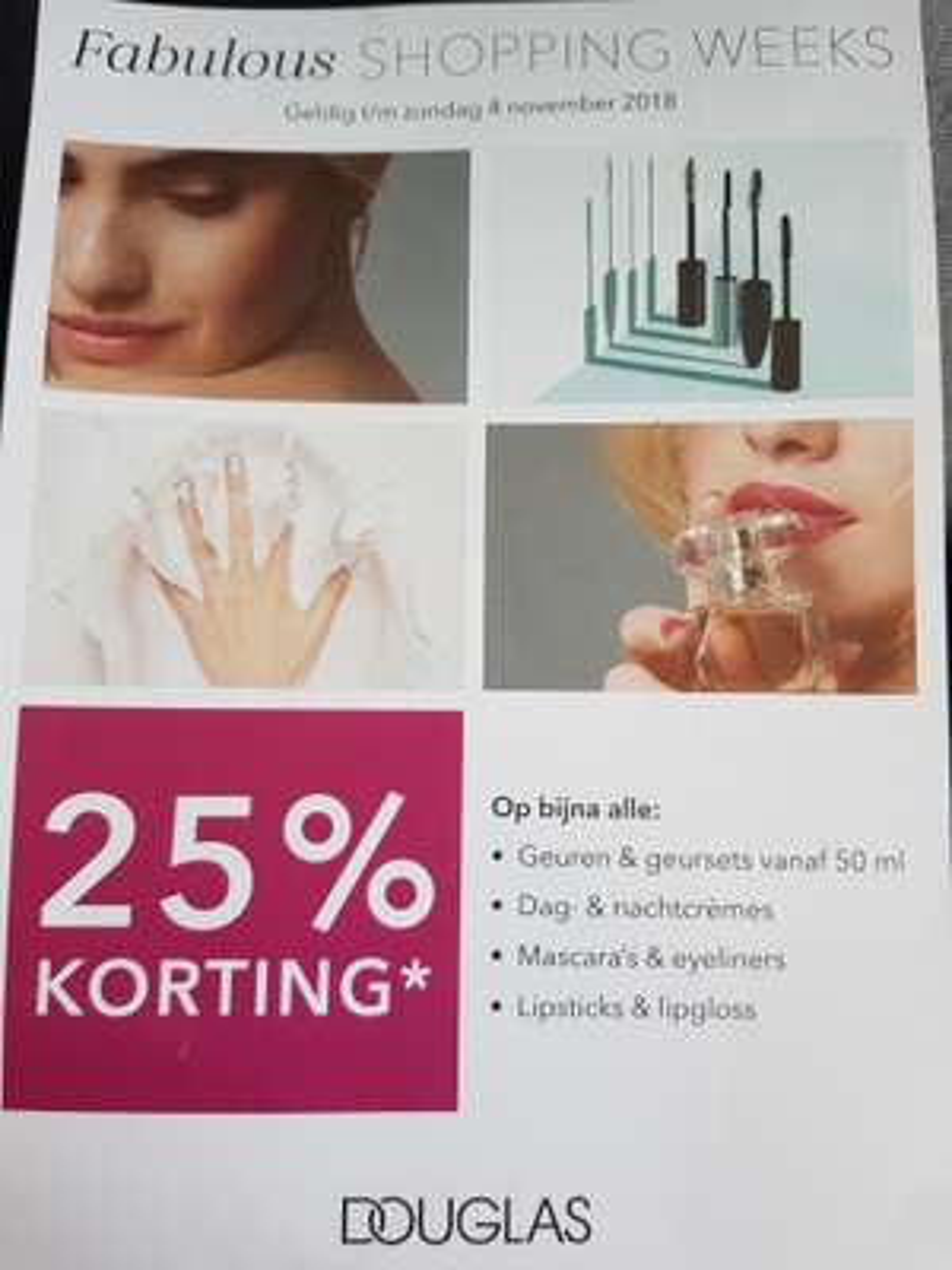 Met codes 25% korting op diverse producten (oa crèmes en geuren) @ Douglas