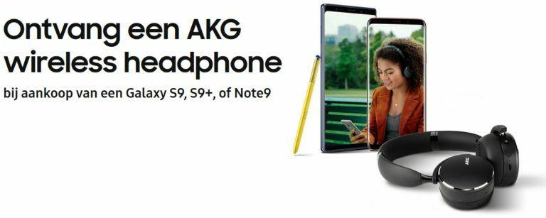Ontvang een AKG wireless headphone bij aankoop van een Galaxy S9, S9+, of Note9