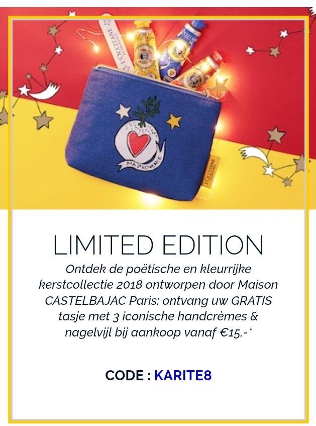 @Loccitane, gratis tasje met inhoud twv €12 bij aankoop vanaf €15