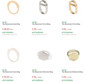 Diverse The Boyscouts ringen -70% @ fonQ