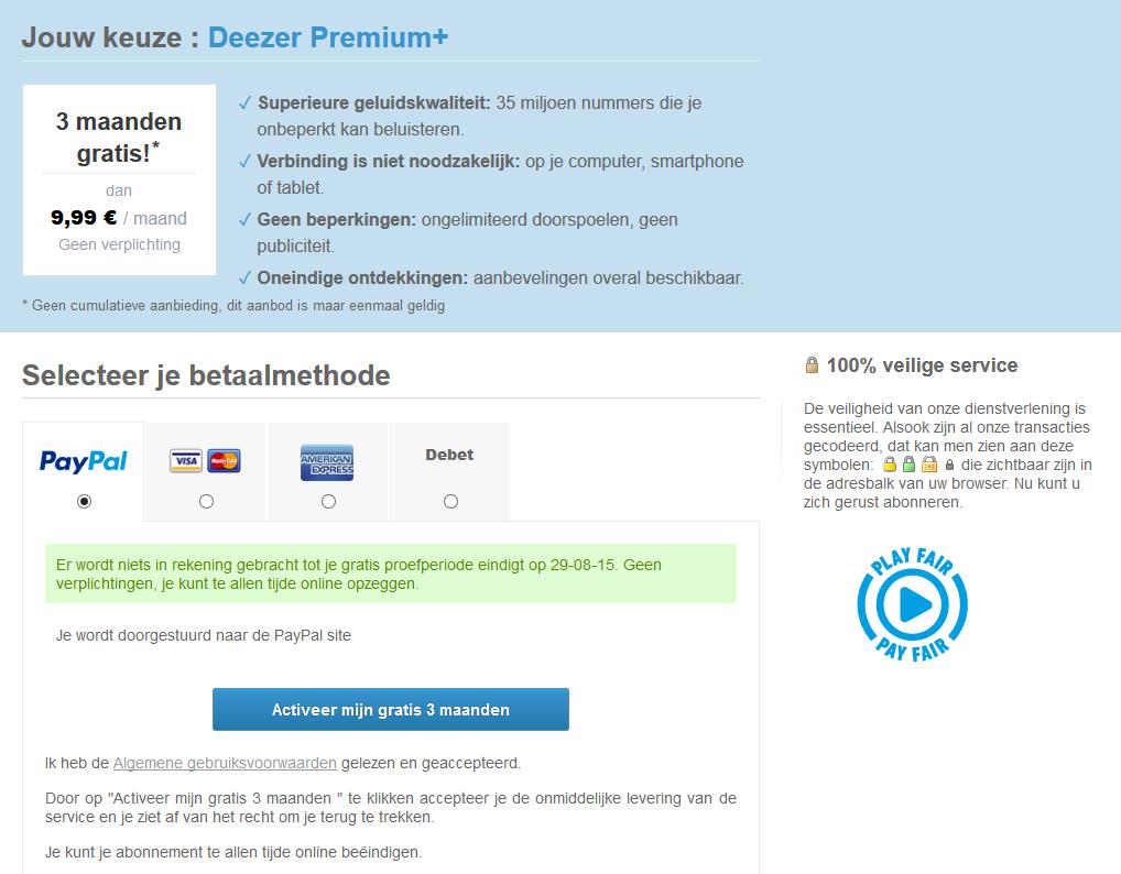 Gratis 3 maanden Deezer Premium+ door VPN trucje
