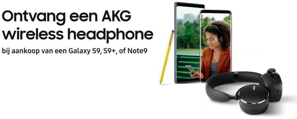 S9 voor €430.69 met AKG headset ( met een abbonement van min. €7 per maand)