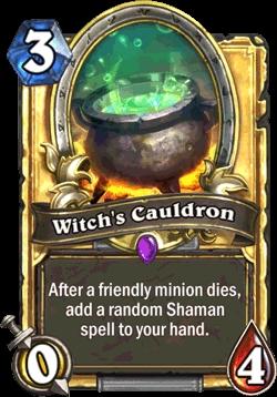 Gratis 'Witch's Cauldron'-kaart bij login tot 31 oktober @ Hearthstone (F2P game)