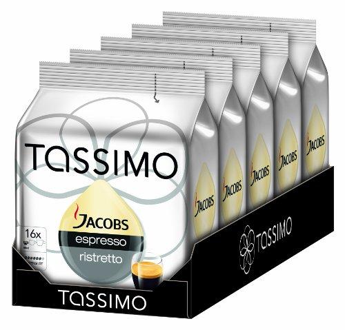 5 pakken Tassimo Jacobs Espresso Ristretto voor €13,86 @ Amazon.de