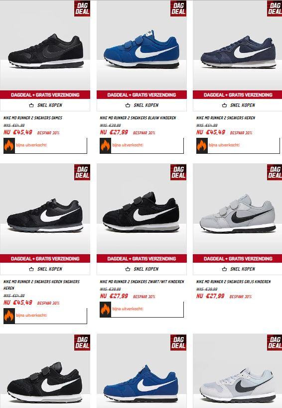 Nike MD Runner sneakers -30% + 10% extra met code + gratis verzending @ Aktiesport