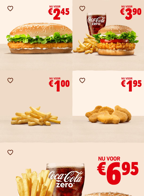 Long Chicken, Crispy Chicken Menu en meer kortingcoupons @ Burger King App
