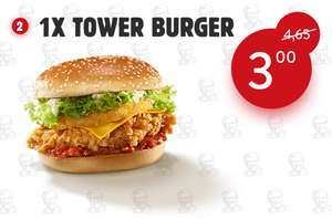 Tower Burger en Chick 'n Share coupons @ KFC.nl