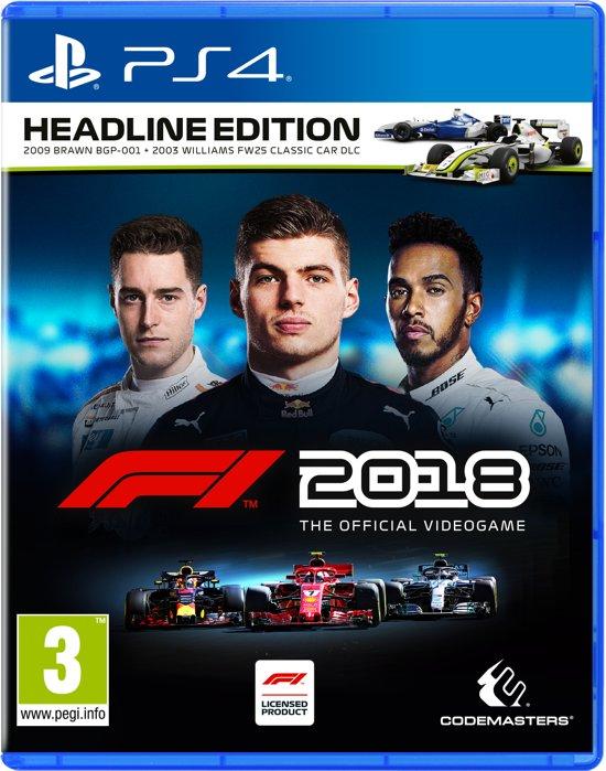 Bol.com - F1 2018 Headline Edition - PS4/xbox one/ PC € 33,- (dagdeal)