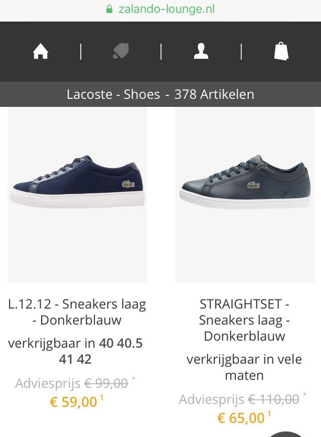 Lacoste sneakers Dames/Heren