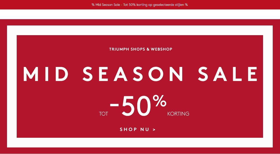 mid season SALE @Triumph tot 50% korting