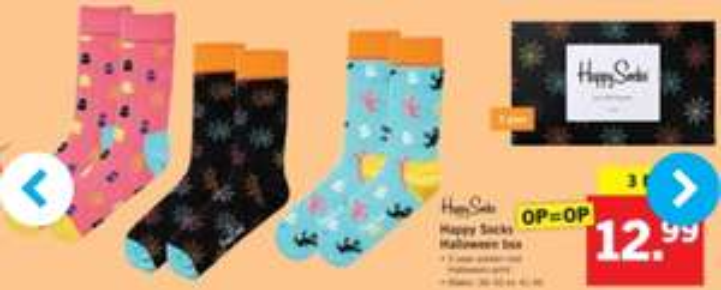 Volgende week Happy Socks Halloween box voor maar €12.99 bij de Lidl