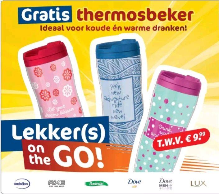 @Kruidvat, gratis thermosbeker twv €9.99, bij aankoop van 2 actieproducten