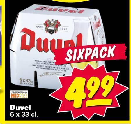 6-Pack Duvel voor €4,99 bij Nettorama