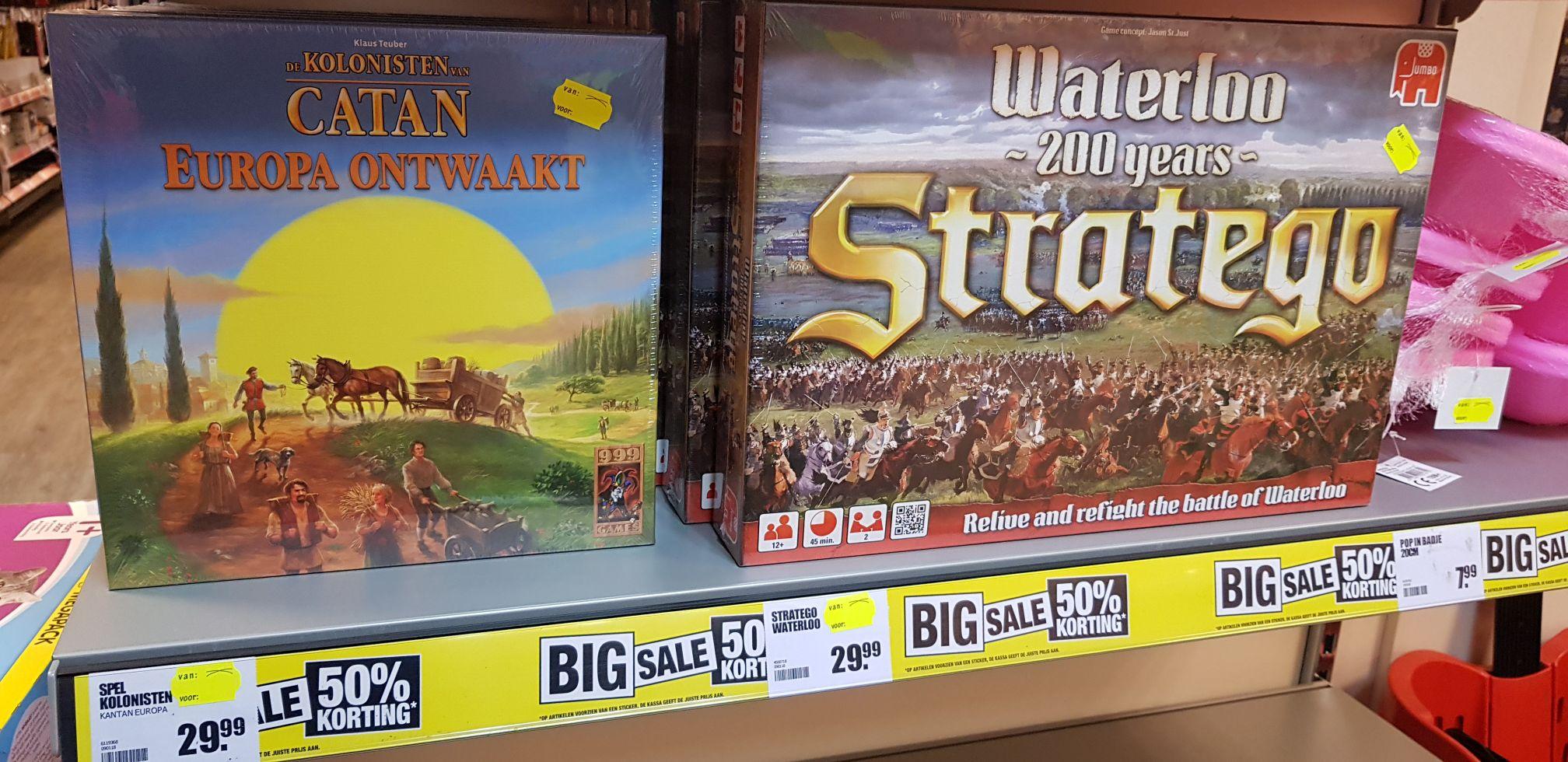 Kolonisten van Catan Europa Ontwaakt en Stratego Waterloo @Big Bazar