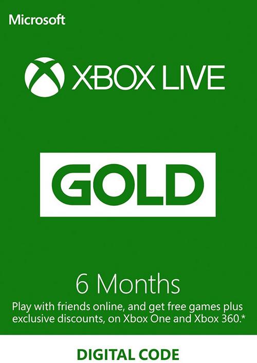 Xbox Live Gold - 6 maanden (digitale code) voor €15,99 @ CDkeys