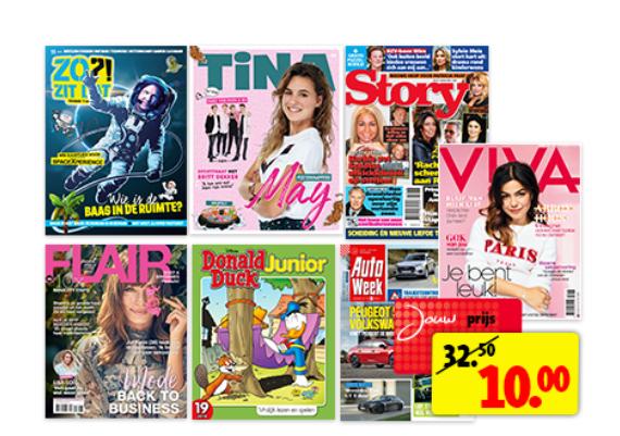 Tijdschrift abonnement (bv Autoweek, Story, Viva 10x) voor 10 euro