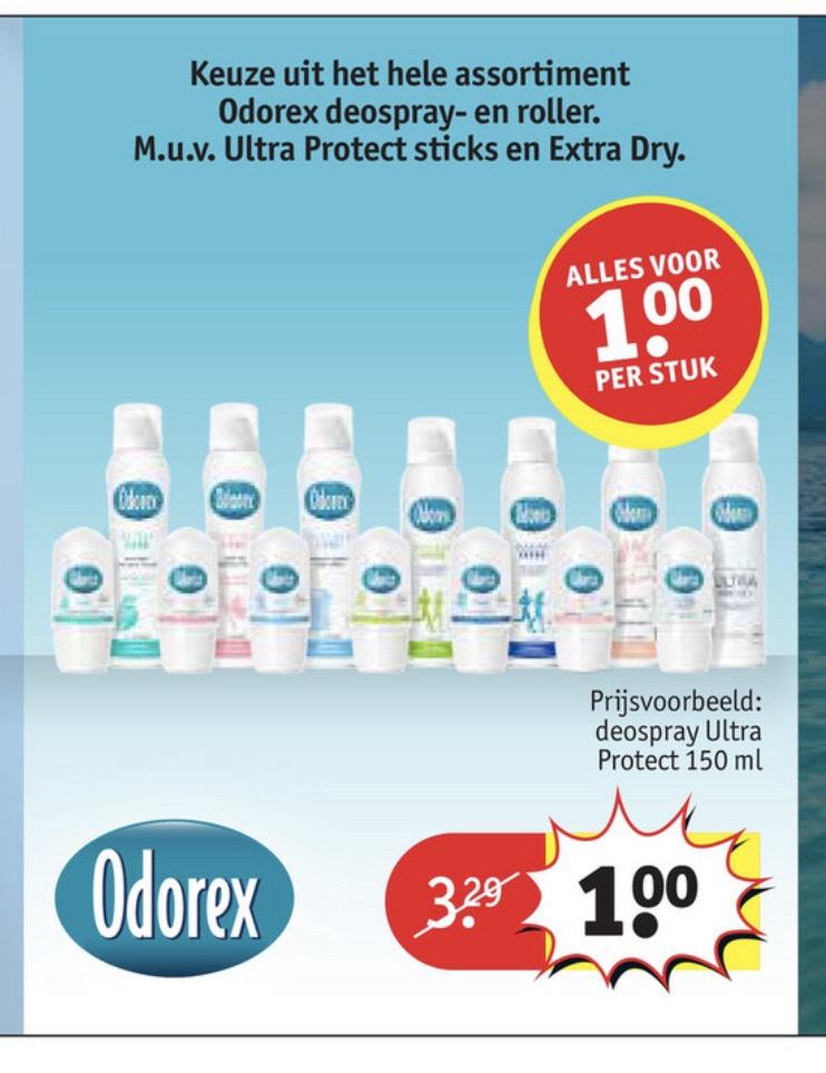 Odorex deodorant €1,-