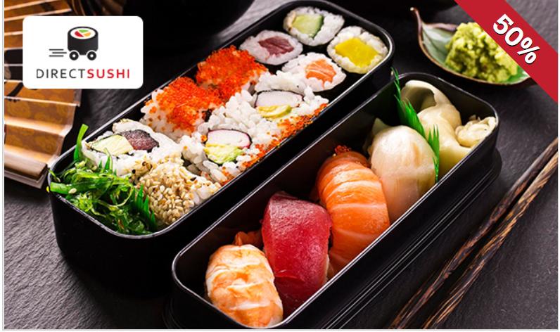 Direct Sushi Hengelo / Oldenzaal 50% korting op geselecteerde sushiboxen