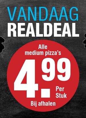 Vandaag Real Deal, alle medium pizza's voor €4,95 @ Domino's (afhalen)
