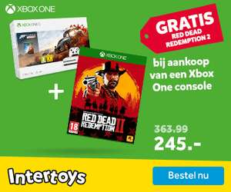 Xbox One S 1 TB + 2 Controllers + Red Dead Redemption 2 voor €249,99 @ Intertoys (vanaf vrijdag)