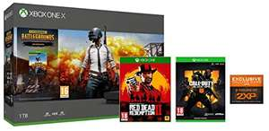 Xbox One X PUBG + Red Dead Redemption 2 Special Edition + Call of Duty Black Ops 4 Exclusive