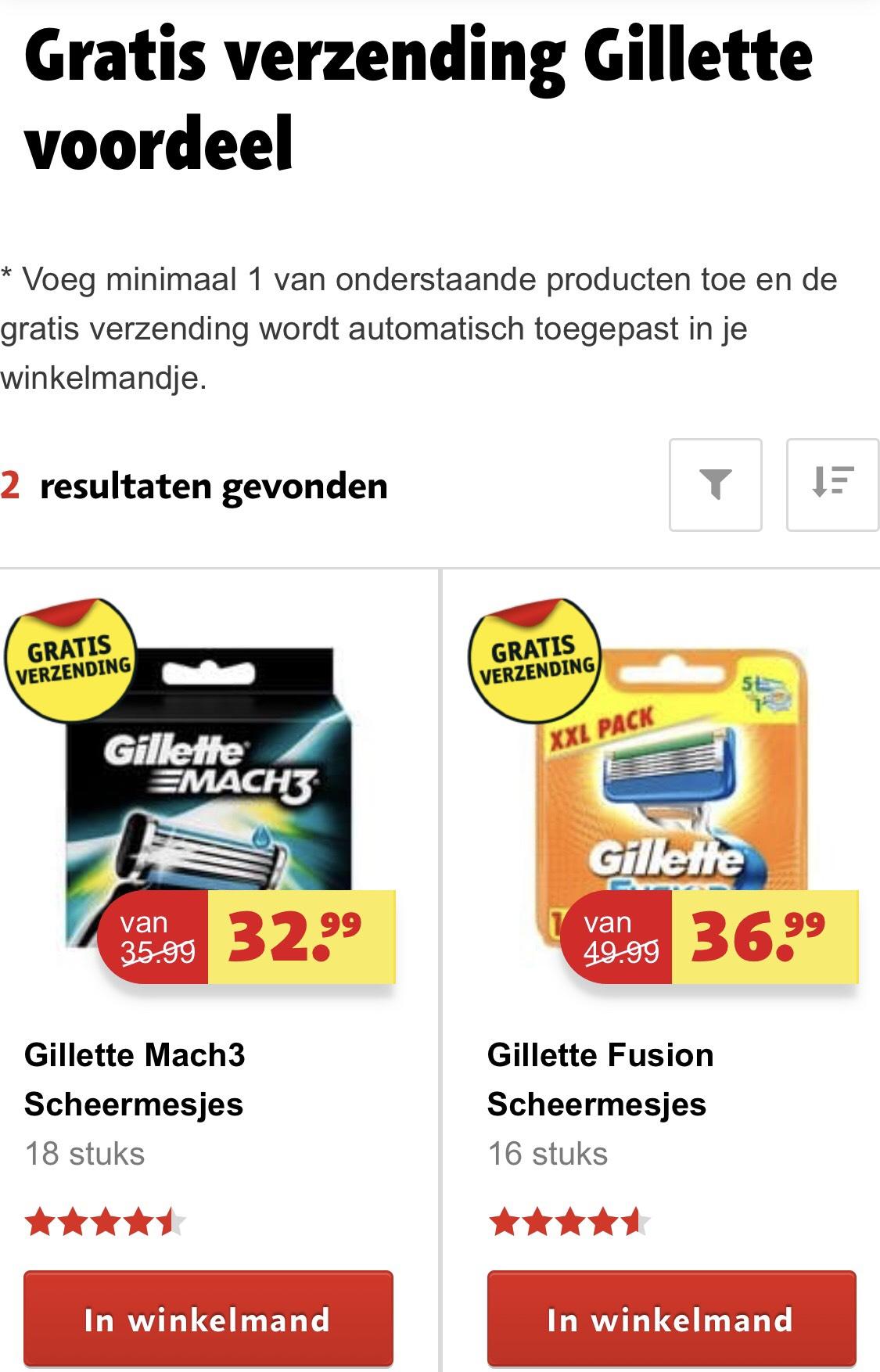 SCHERPE Gillette voordeelverpakkingen met GRATIS verzending @Kruidvat