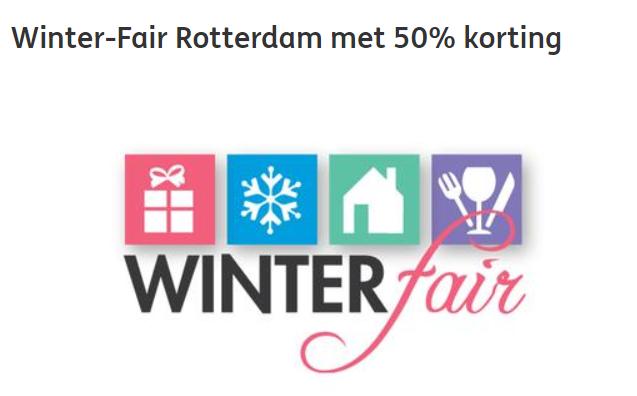 50% korting op winter fair Rotterdam ( ING rente punten)
