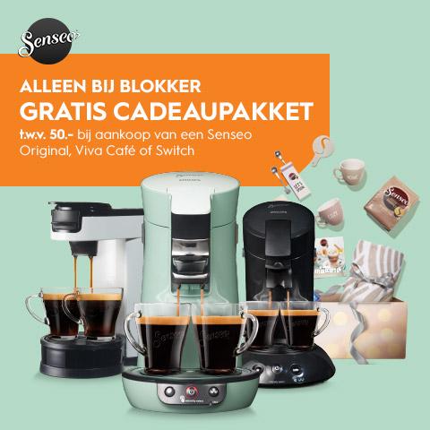 Gratis cadeaupakket t.w.v. €50 bij aankoop van een Senseo Original, Viva Café of Switch @ Blokker