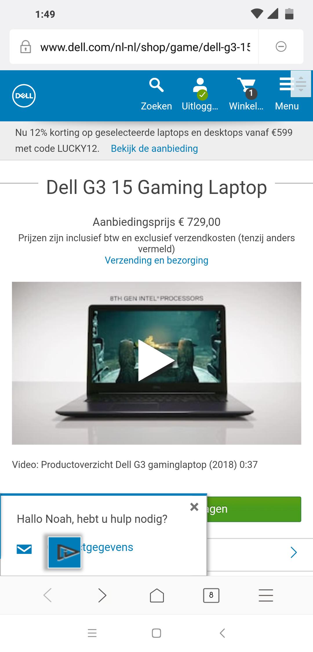 Gtx 1050 Laptop Zelfde als gister alleen 30euro duurder