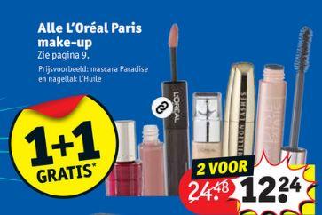 ALLE L'Oréal make-up 1+1 gratis @ Kruidvat