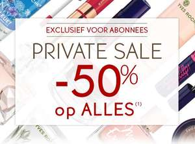 50% korting op alles - Private Sale - Exclusief voor abonnees @YvesRocher