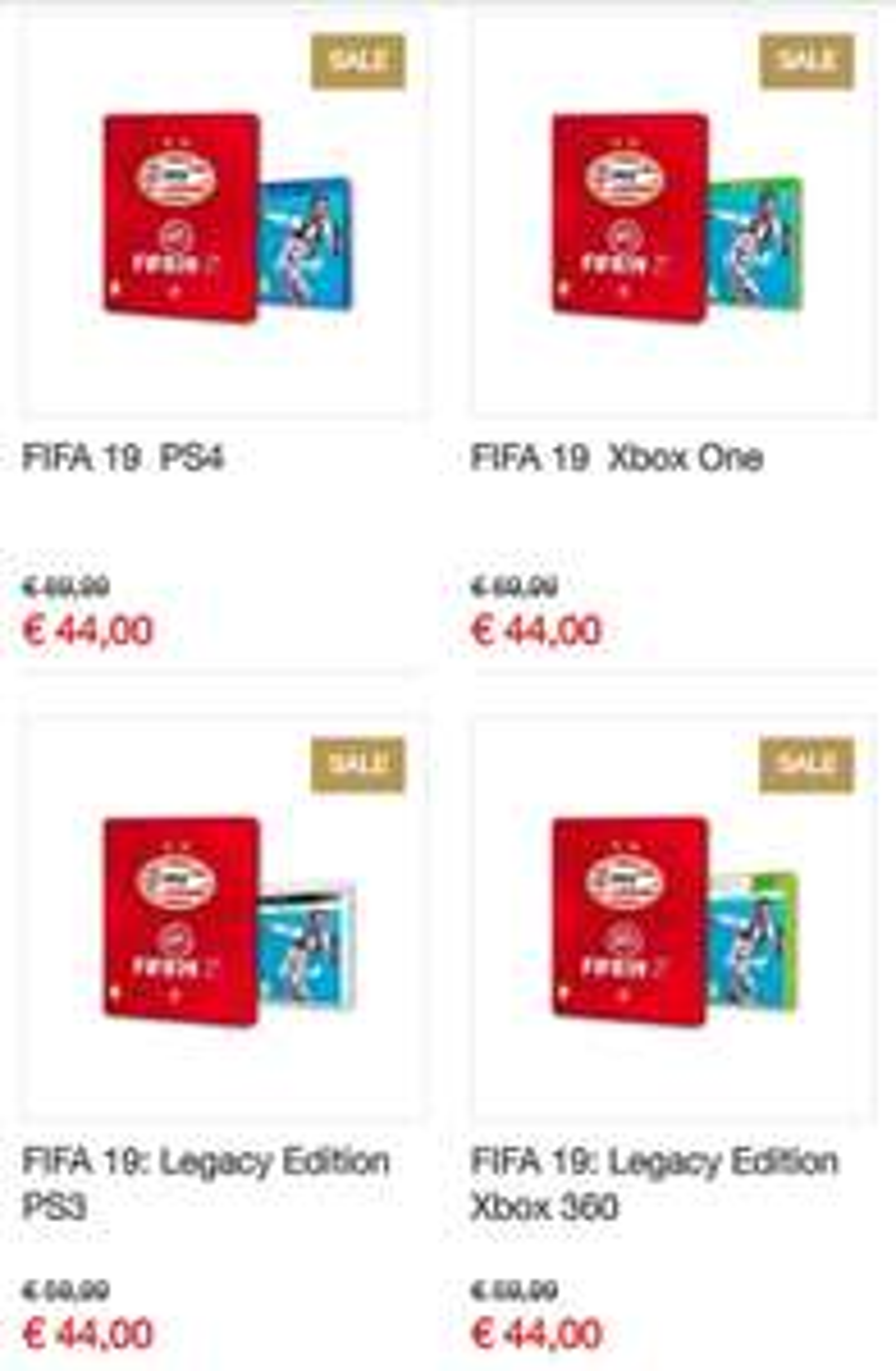 Fifa 19 + PSV cover [PSVfanstore]