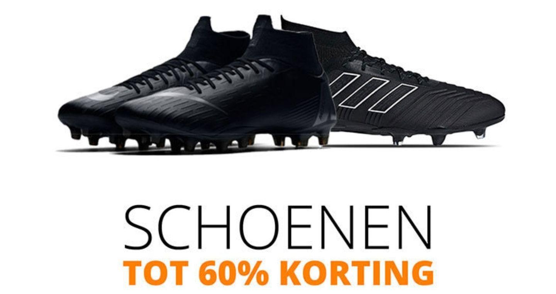 TOT 60% korting op voetbalschoenen bij voetbaldirect.nl