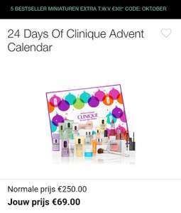De Clinique Advent Kalender + gratis miniaturen setje