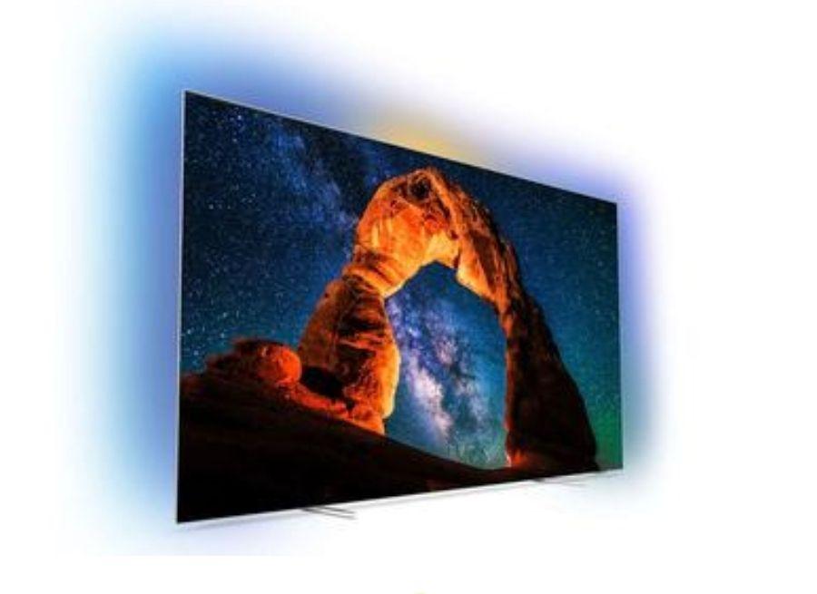 """Philips 55"""" 4K OLED TV (55OLED803/12) Ontvang tijdelijk €250,- cashback bij aanschaf van dit actiemodel. ING rentepunten"""