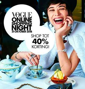 Vogue shopping night tot 40% korting op diverse merken