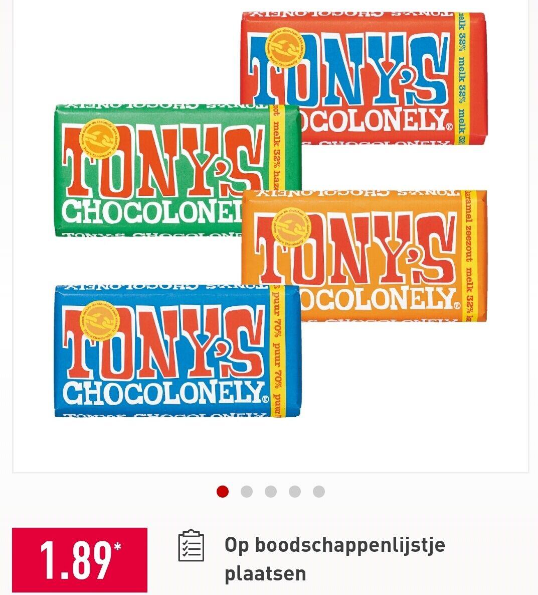 Tony Chocolonely voor €1,89 bij Aldi