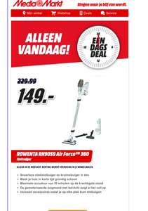ROWENTA RH9059 Air Force™ 360 Wit Mediamarkt