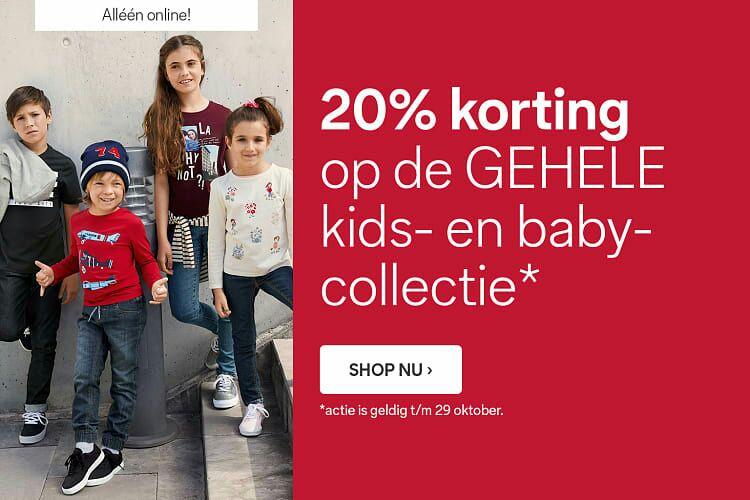 20% korting op de gehele baby- en kindercollectie @C&A online