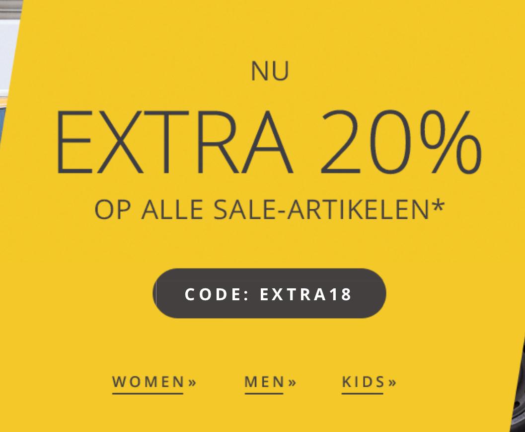 20% extra korting op de sale @Esprit