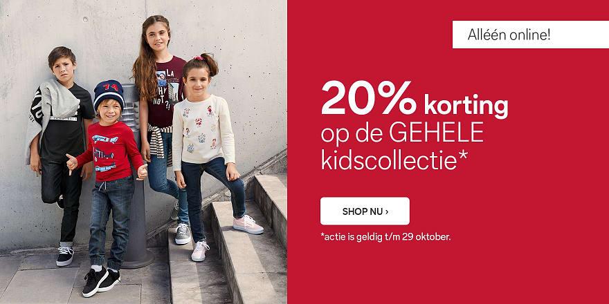 Baby- en kinderkleding -20% + €10 extra korting met code (va €40) @ C&A