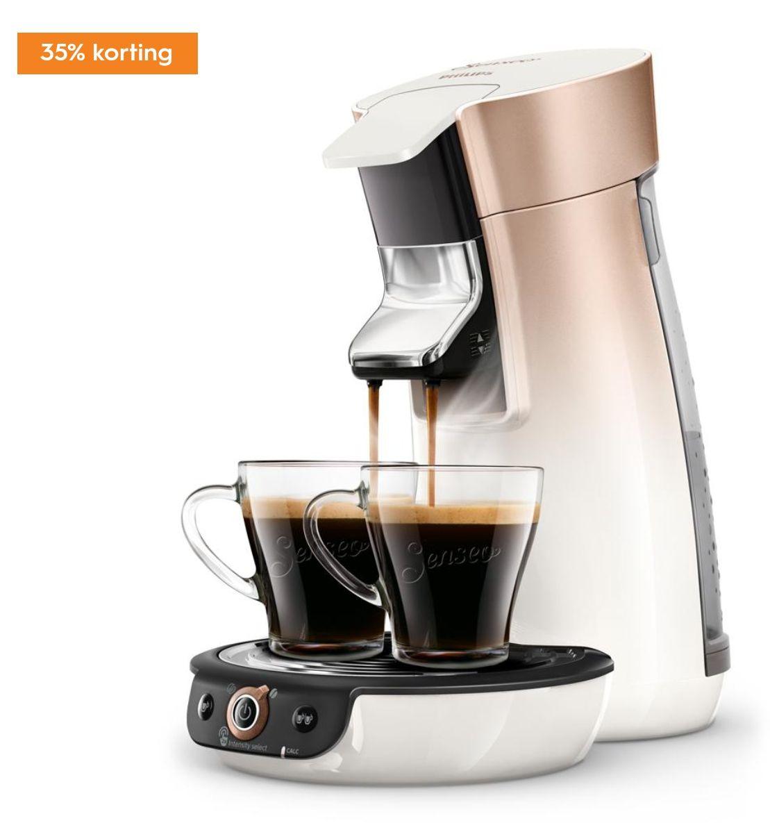 35% korting op Philips Senseo Viva Café HD6566/30 + gratis cadeaupakket t.w.v. €50 @Blokker